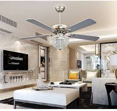 ceiling fan chandelier with four blades for living room