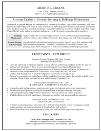Remarkable Sample Resume For Property Maintenance Manager About
