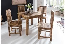 wohnling esstisch rustica 80 x 80 x 76 cm mango massivholz quadratisch küchentisch rustikal design holz esszimmertisch tisch esszimmer für 4