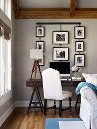 beautiful living room features corner work station boasting photo