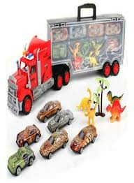 100 Toy Car Carrier Truck Dinosaur S Transport Rier With 4 Mini Dinosaur 6 Racing S
