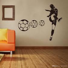 großhandel casual football wallpapers wandaufkleber jungen schlafzimmer wohnzimmer sport club dekoration wasserdichte pvc wand poster he112233