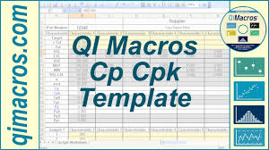 Cp Cpk Template In Excel To Perform Process Capability Analysis