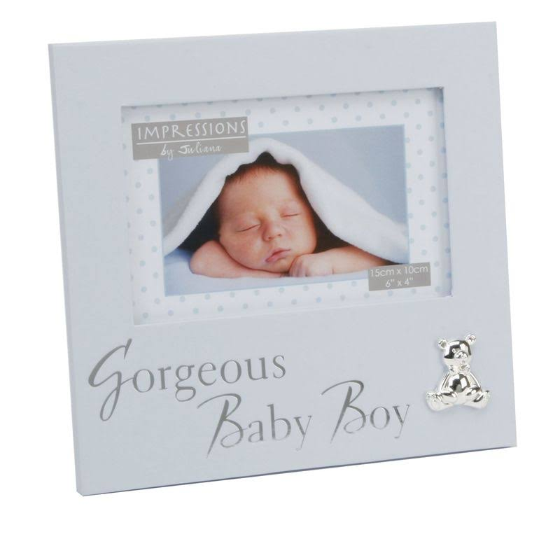Juliana Gorgeous Baby Boy Textured Photo Frame - Blue, 6x4""