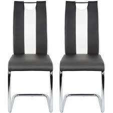 2x esszimmerstühle schwingstühle küchenstühle freischwinger stühle schwingstuhl esszimmerstuhl hochlehner schwarz