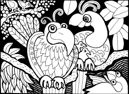 Simple Birds Coloring Page
