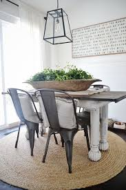 Dining Table Decorative Bowls Room Urban Farmhouse Dough Bowl And Diy Light Interior