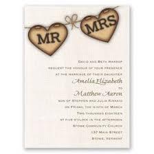 Heart Wedding Invitations Rustic Hearts Petite Invitation