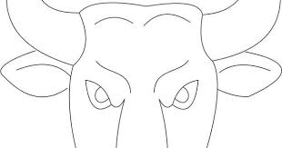 Bull Mask Template Printable Coloring Page For