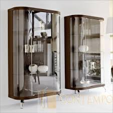 calligaris bend curio cabinet cs 6008 v wenge curio display