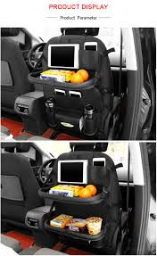 Favorable SaicleHome Leather Car Seat Storage Bag Double Folding Table Container Travel Hanging
