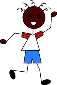 Boy Cartoon Clipart Image Black African American Boy Waving Hello