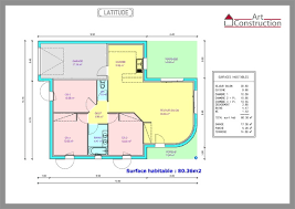 plan maison en l plain pied 3 chambres de maison de plain pied 3 chambres