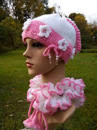 Hat Scarf Set Baby Girl Toddler Kids Crochet Baby Girl