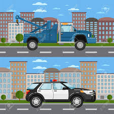 100 Free Tow Truck Games And Police Car In Urban Landscape Royalty Cliparts