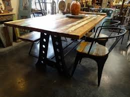 Reclaimed Dining Table Shown With Chairs Denver Furniture Store
