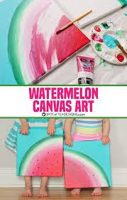 Watermelon Canvas Art Featuring Decoart Inc Americana Premium Paints