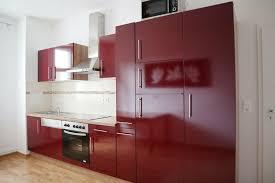 wie neu küchenblock inkl e geräte küchenzeile 360 cm rot