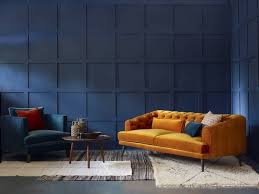 wall painting ideas living room blue wall deisgner