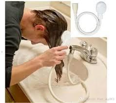großhandel bad wasserhahn duschkopf spray drains sieb schlauch waschbecken waschen haare waschen dusche feb5 blue sky001 2 07 auf de dhgate