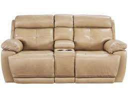slumberland rhodes collection brown power reclining sofa