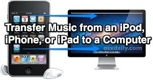 Transfer Music from iPhone iPod or iPad to a puter