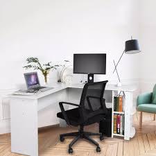 utility holz ecke tisch dual tabletop büro computer schreibtisch home gaming pc furnitur