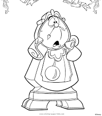 Cogsworth Beauty And The Beast Color Page Disney Coloring Pages Plate