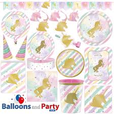 Pink And Gold Birthday Decorations Canada by Unicorn Party Supplies Ebay