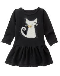 toddler girls black cat sweater dress by gymboree