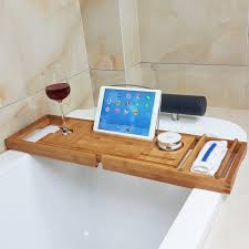 Bath Caddy With Reading Rack Australia by Honana Bx 816 Expandable Bamboo Bath Caddy Wine Glass Holder Tray