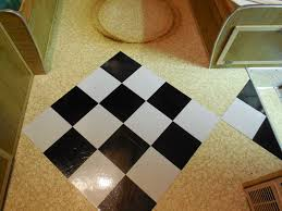 Checkerboard Vinyl Flooring For Trailers by How To Install Flooring In A Vintage Trailer Eileen Hull