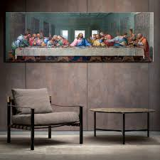 Last Supper Christian Canvas Painting For Living Room Jesus Portrait Religions Wall Art Poster