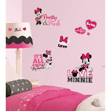 Mickey And Minnie Mouse Bath Decor by Roommates Mickey U0026 Friends Minnie Mouse Peel U0026 Stick Giant Wall