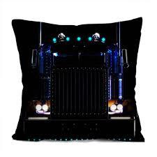 Peterbilt Trucks Decorative Throw Pillow Case Cushion 16