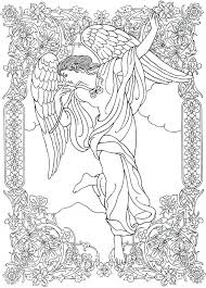 Guardian Angel Coloring Page Catholic Brilliant Pages Online