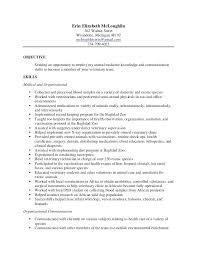 Vet Tech Resume Summary Examples Plus Vetarian Sample Final
