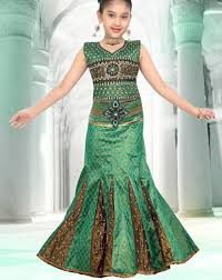 Green Color Latest Sharara And Gharara Designs For Kids 2016 2017 Ghagra Choli
