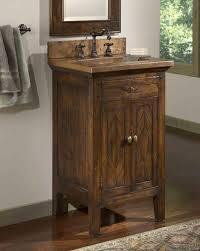 Image Of Bathroom Vanities Rustic Look