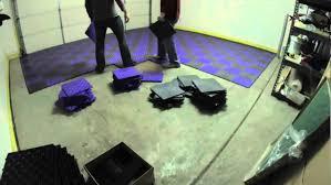 garage flooring grid lock tiles installation
