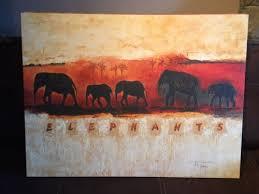 bild wandbild elefanten elefant stube wohnzimmer dekoration