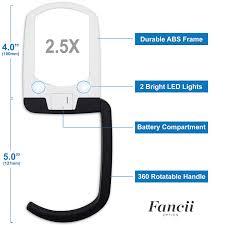 amazon com fancii led illuminated hands free magnifying glass