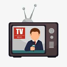 Tv News Clipart Cartoon Hand Drawing Advertisement PNG Image And