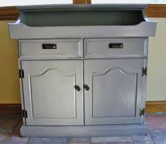 Ethan Allen Painted Dry Sink by Creative Mess Dry Sink Makeover With Chalk Paint