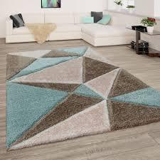 teppich wohnzimmer weich shaggy abstrakt hochflor