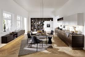 moderne wohnküche mit küchenregal nolte kuechen