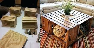 Milk Crate Ideas Coffee Table Wood Wine And