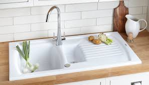 Ceramic Sink Protector Mats by Cooke U0026 Lewis Burbank 1 5 Bowl White Ceramic Sink U0026 Drainer