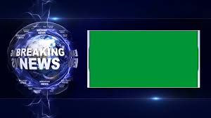 BREAKING NEWS Text Animation And Earth Green Screen Loop 4k Motion Background