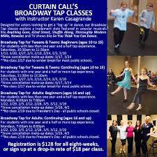 Curtain Call Stamford Auditions by Winter 2018 Classes Curtain Call Inc